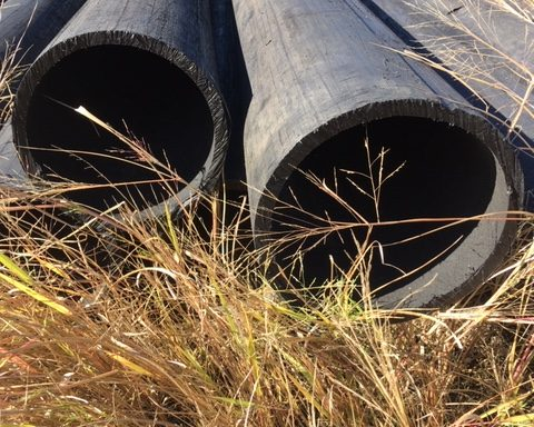 "Used 10"" SDR17 HDPE pipe"